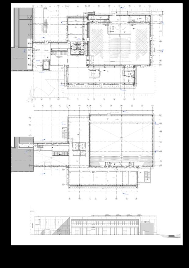 Tegninger af den nye kirkebygning